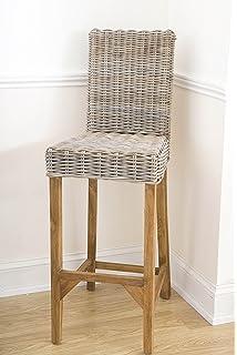 bembridge bar stool in rattan teak by garden trading amazon co uk