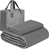 GnO Premium Adult Weighted Blanket & Removable Bamboo Cover - (12 Lbs - 48''x72'' Full Size) - 100% Oeko Tex Certified…