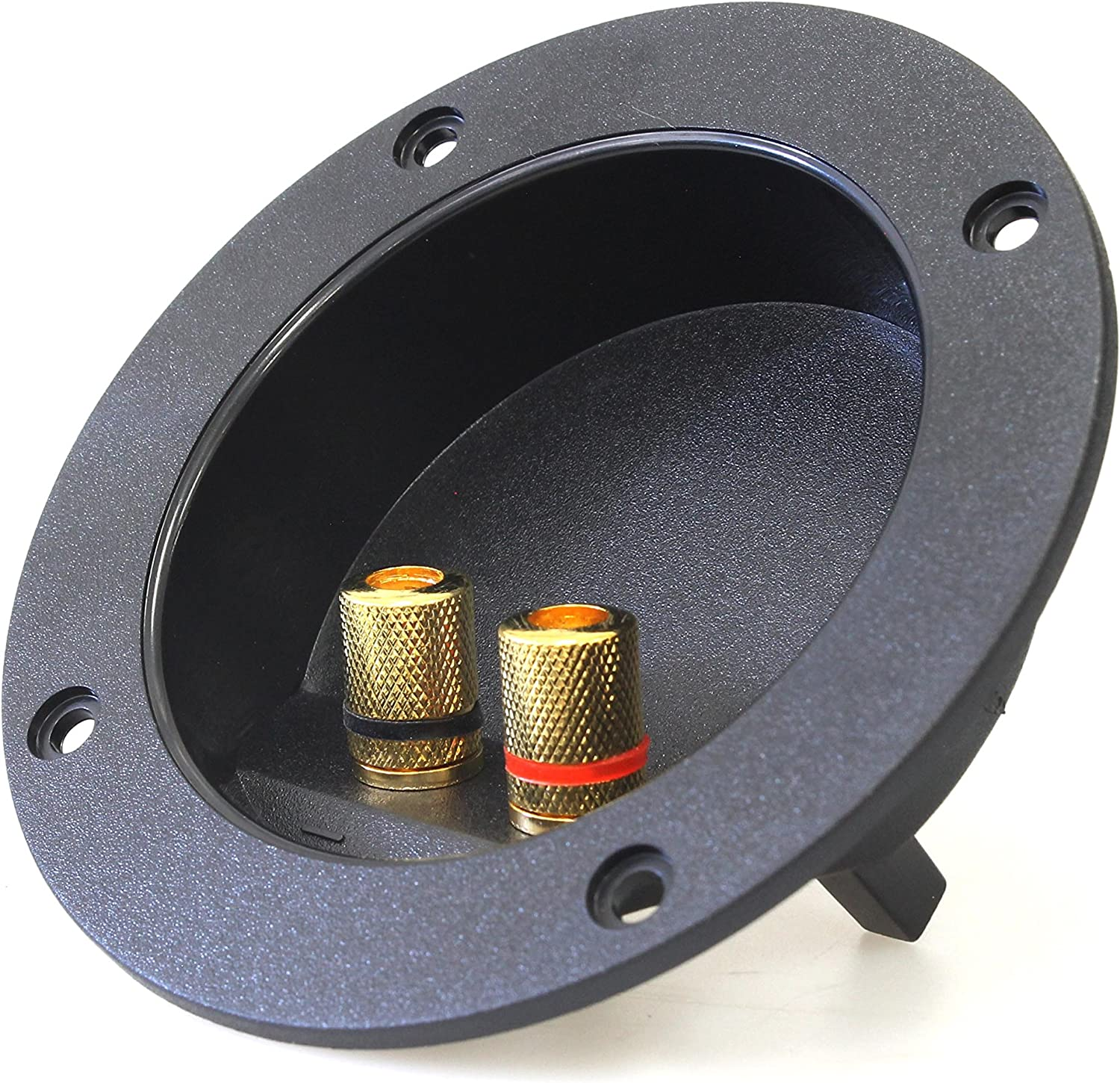 """4X Round Push-in Speaker Terminal Cup 2/"""" w//Spring Post for Car// Home Audio"""