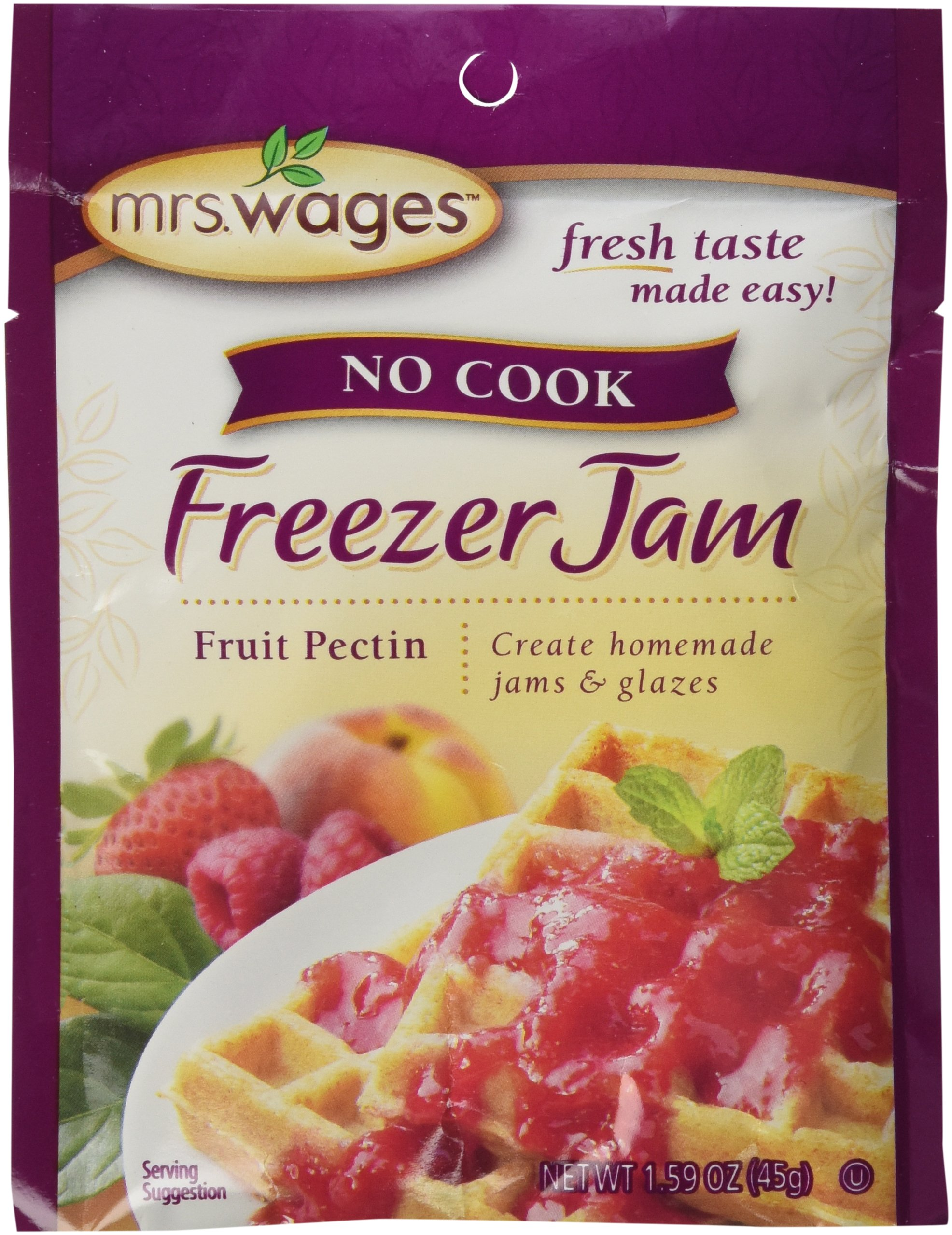 Mrs Wages no Cook Freezer Jam-6 Packets, 1.59 oz