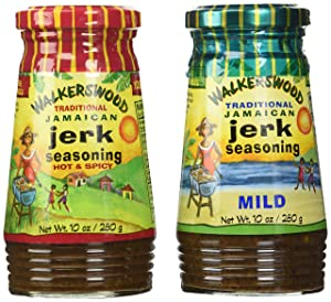 Walkerswood Jamaican Jerk Seasoning Mixed Pack - 10 Oz Each Mild, Hot & Spicy