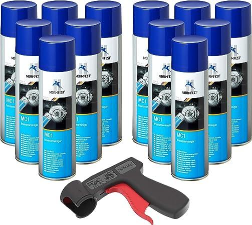 Auprotec Bremsenreiniger Mc 1 Multicleaner Spray Intensiv Reiniger Transparent 12x 500ml 1x Original Pistolengriff Auto