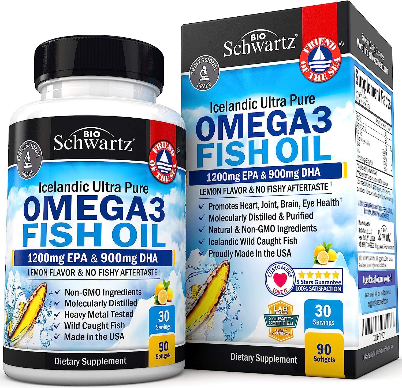 Omega 3 Fish Oil Supplement – Immune & Heart Support Benefits– Promotes Joint, Eyes, Brain & Skin Health