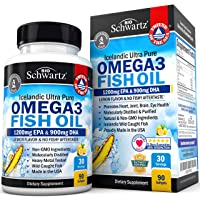 Omega 3 Fish Oil Supplement – Immune & Heart Support Benefits– Promotes Joint, Eyes...