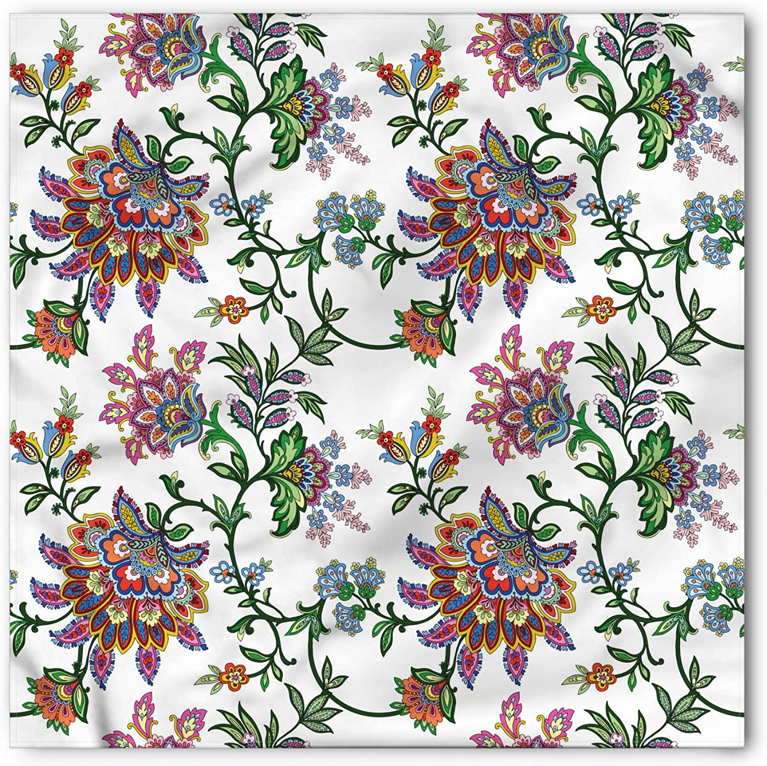 Details about  /Ambesonne Floral Bouquet Bandana Printed Unisex Head Neck Tie Scarf Headband