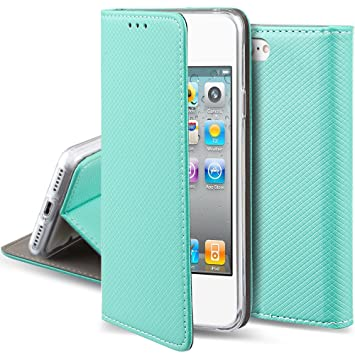 best website fa1ca 3bec6 Moozy case Flip cover for iPhone 5s / iPhone SE, Mint green - Smart  Magnetic Flip case with folding stand