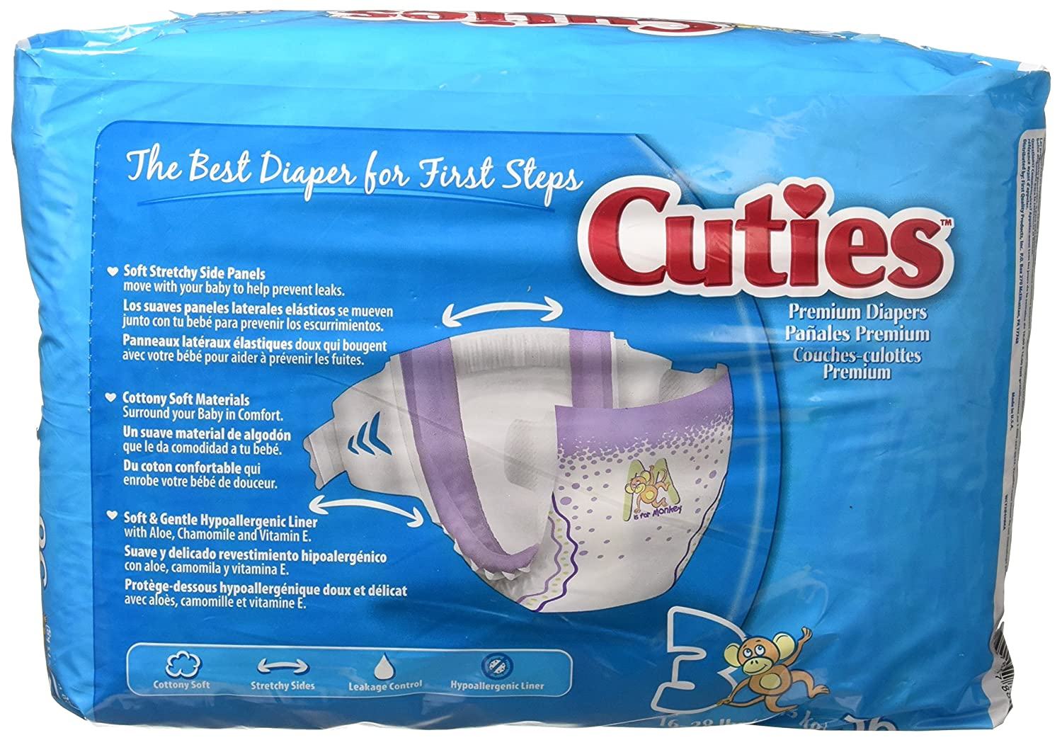 Amazon.com : Cuties Premium Baby Diapers, Size 3, 36 ct Bag : Incontinence Protective Underwear : Baby