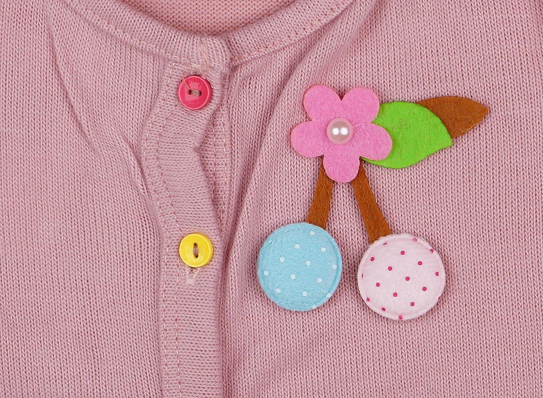Strick-Jacke Baumwoll Baby M/ädchen Feinstrick-Cardigan in Rosa mit farbigen Kn/öpfe Feinstrick-Jacke Pulli in Gr/össe 92 98 104 110 f/ür 2 3 4 Jahre ideales Geschenk