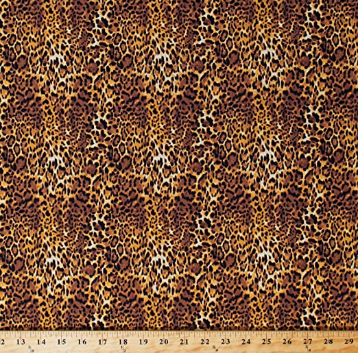 100/% COTTON By The Yard QUILT FABRIC WILD ANIMAL SKIN PRINT  AS-14