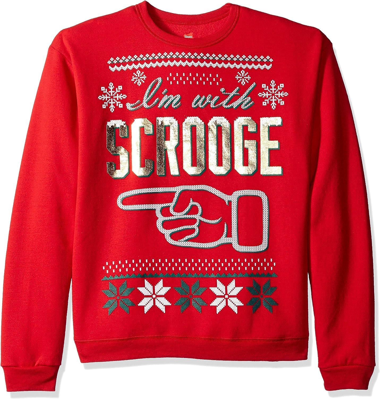 Hanes Mens Ugly Christmas Sweatshirt