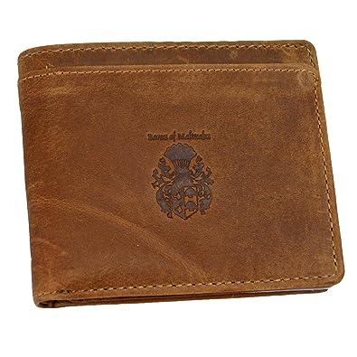BARON de MALTZAHN Cartera Monedero GETTY cuero marrón: Amazon.es: Zapatos y complementos
