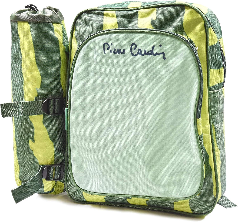 Pierre Cardin 36x28x9cm Zaino Termico con portabottiglie Linea Haiti Verde