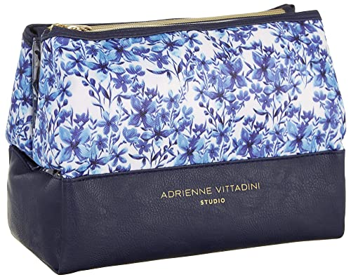 d8f78a803d Amazon.com  Adrienne Vittadini Dual Pyramid Wildflower Cosmetic Case ...