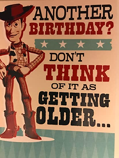Disney Toy Story Woody tarjeta de cumpleaños: Amazon.es ...