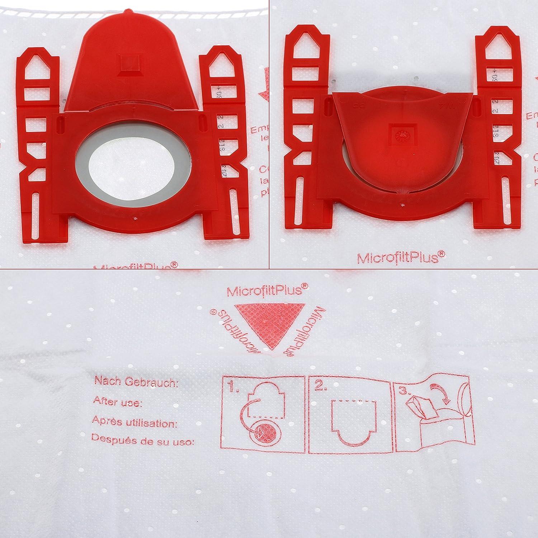 1/x Micro filtro suficiente para Homedeco-24//–/5 / /Compatible con Swirl S62//S67 Bonuspack 20/x cleanmon ster bolsas para aspiradora Siemens Z 3.0/VSZ31455/+ 2/x Motor Filtro