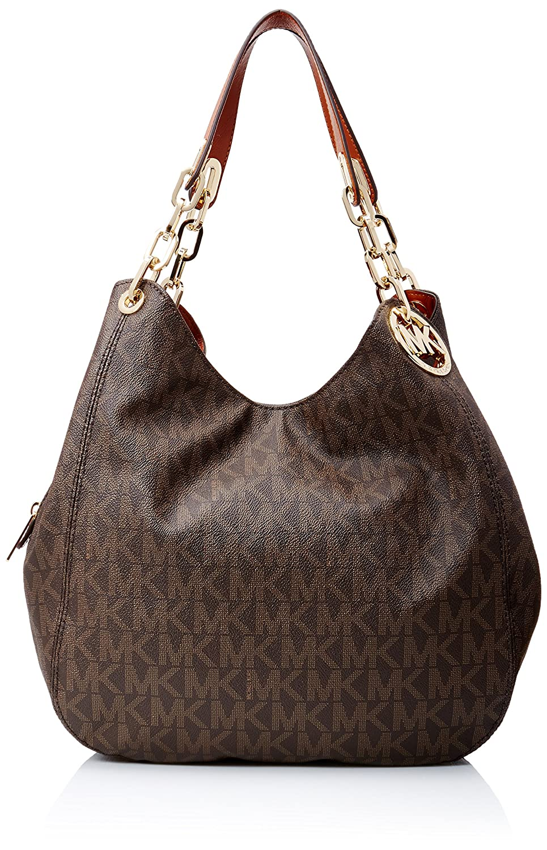 567a6ab34b8390 Michael Kors Womens Fulton Large Logo Shoulder Bag Hobos and Shoulder Bag  34x28x10 Amazon.co ...