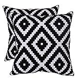 Bridgeso Geometric Throw Pillow Case Black