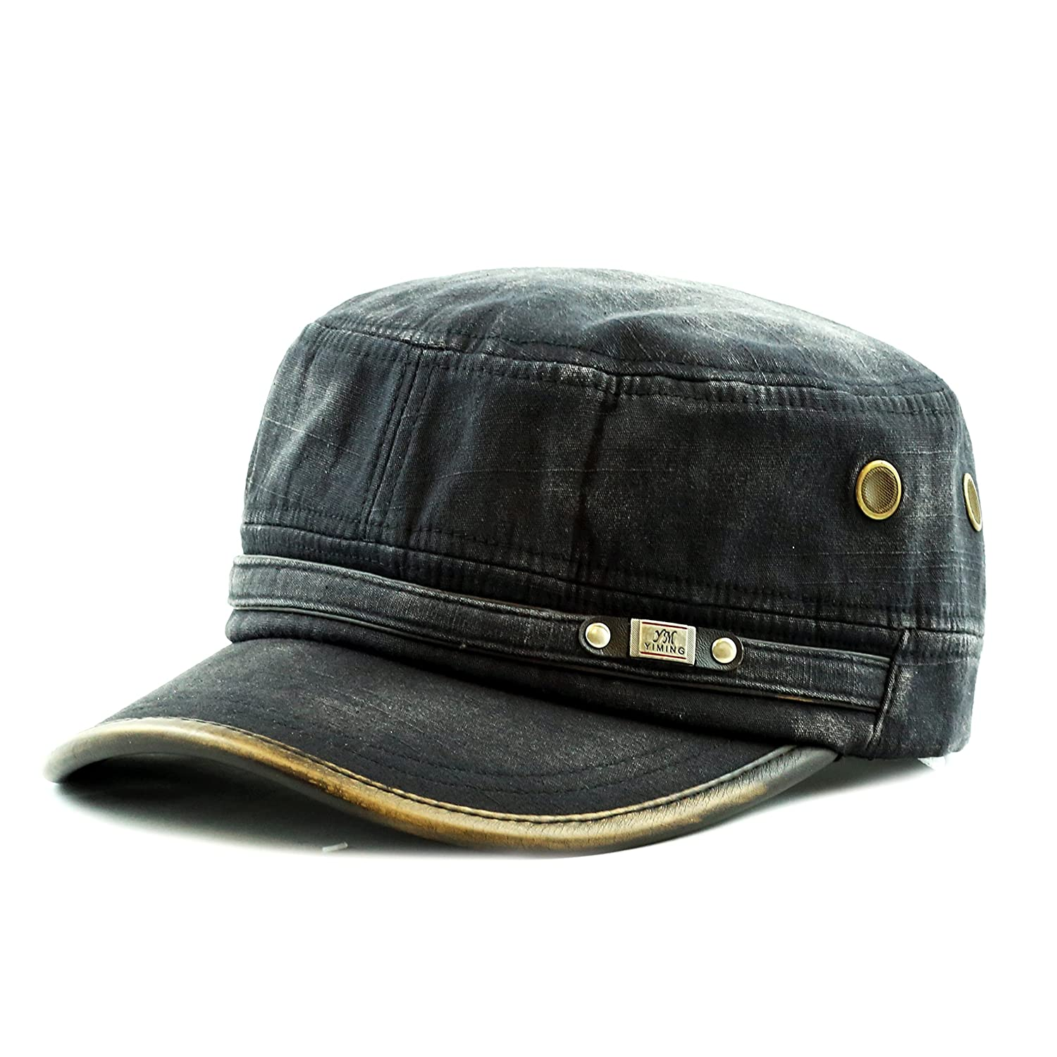 The Hat Depot 200h5149 High Quality Washed Cotton Cadet Cap (BLACK) at  Amazon Women s Clothing store  83969c9fc0af