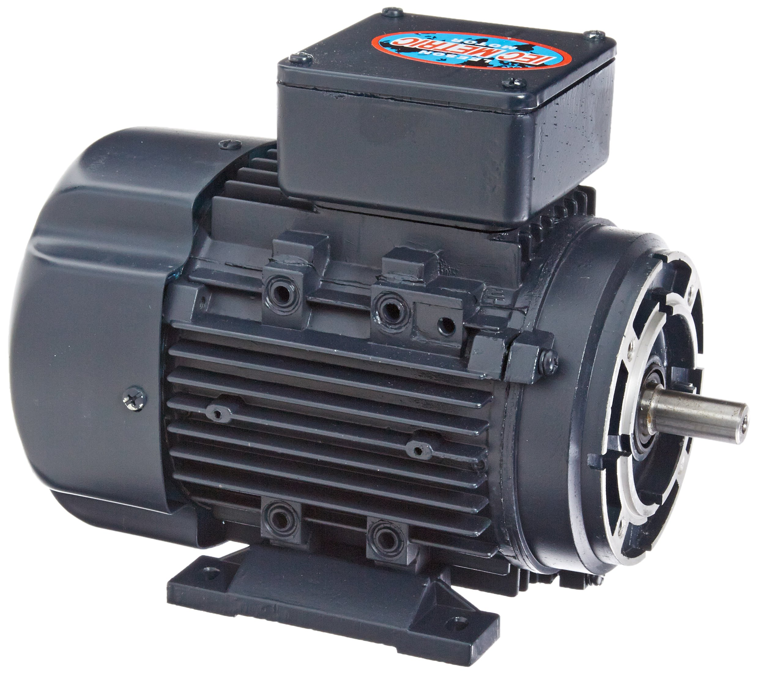 Leeson 192038.00 Rigid Base IEC Metric Motor, 3 Phase, D71C Frame, B3/B14 Mounting, 0.5HP, 1800 RPM, 230/460V Voltage, 60/50Hz Fequency