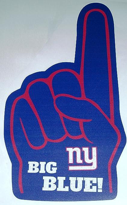 amazon com fathead new york giants 1 foam finger logo big blue