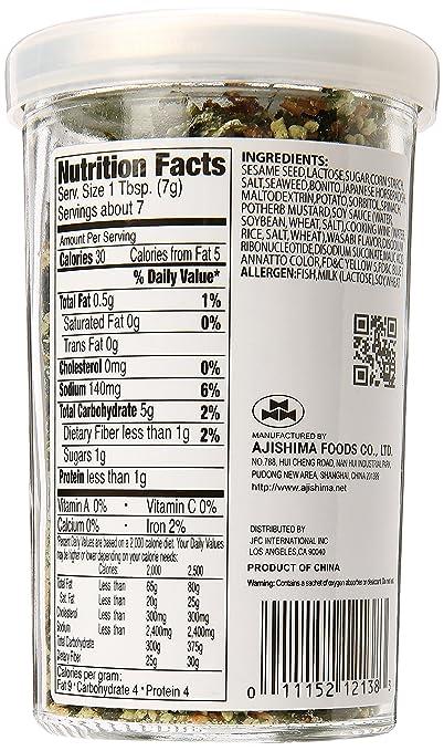 Furikake Rice Seasoning - 1.7 Oz. (50g) (Wasabi): Amazon.com: Grocery & Gourmet Food