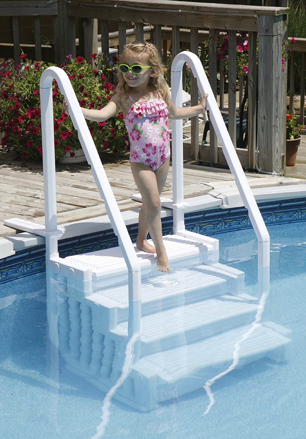 Blue Wave Easy Pool Step for Above-Ground Pool