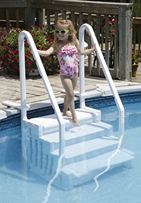 Swim Time Above Ground Swimming Pool Step To Deck