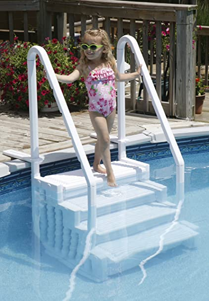Amazon.com : Above Ground Swimming Pool Step to Deck : Garden & Outdoor