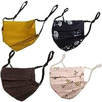 Touchstone Floral Fabric Adjustable filter pocket nose bridge double layer cotton face mask reusable washable for men…
