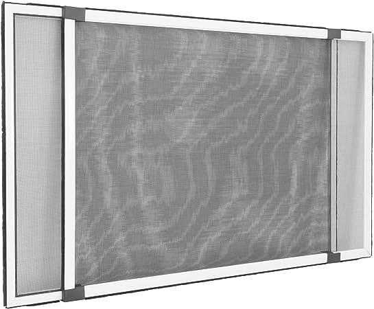ALU Moustiquaire Fenêtre Insectes Moustiques gaze Protection Moustiques 130 x 150