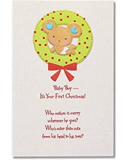 Amazon Com Christmas Card For Baby Girl For A Special Baby Girl