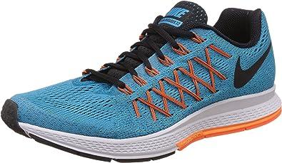 Nike Air Zoom Pegasus 32, Zapatillas de Running Unisex, Azul/Naranja/Negro/Blanco, 42 EU: Amazon.es: Zapatos y complementos