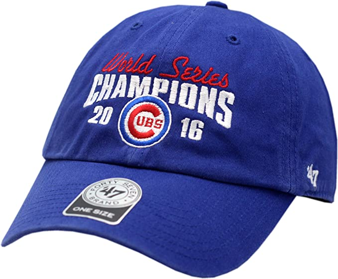 faf2e658dc7 Amazon.com   Chicago Cubs 2016 World Series Champions Hat Buckle Back Clean  Up 13117   Clothing