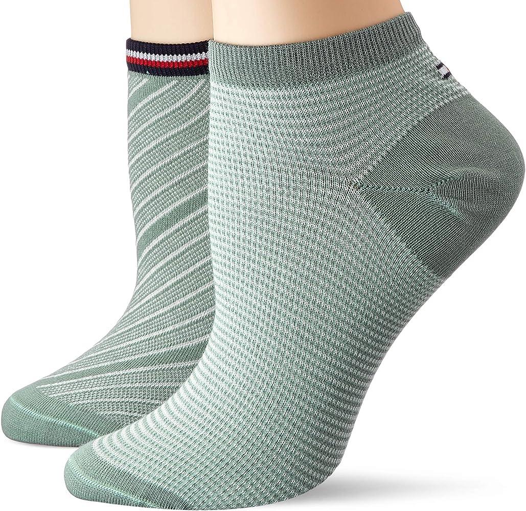 Tommy Hilfiger Th Women Sneaker 2p Refined Bias Calcetines, Verde (Sea Green 013), 35/38 (Pack de 2) para Mujer: Amazon.es: Ropa y accesorios
