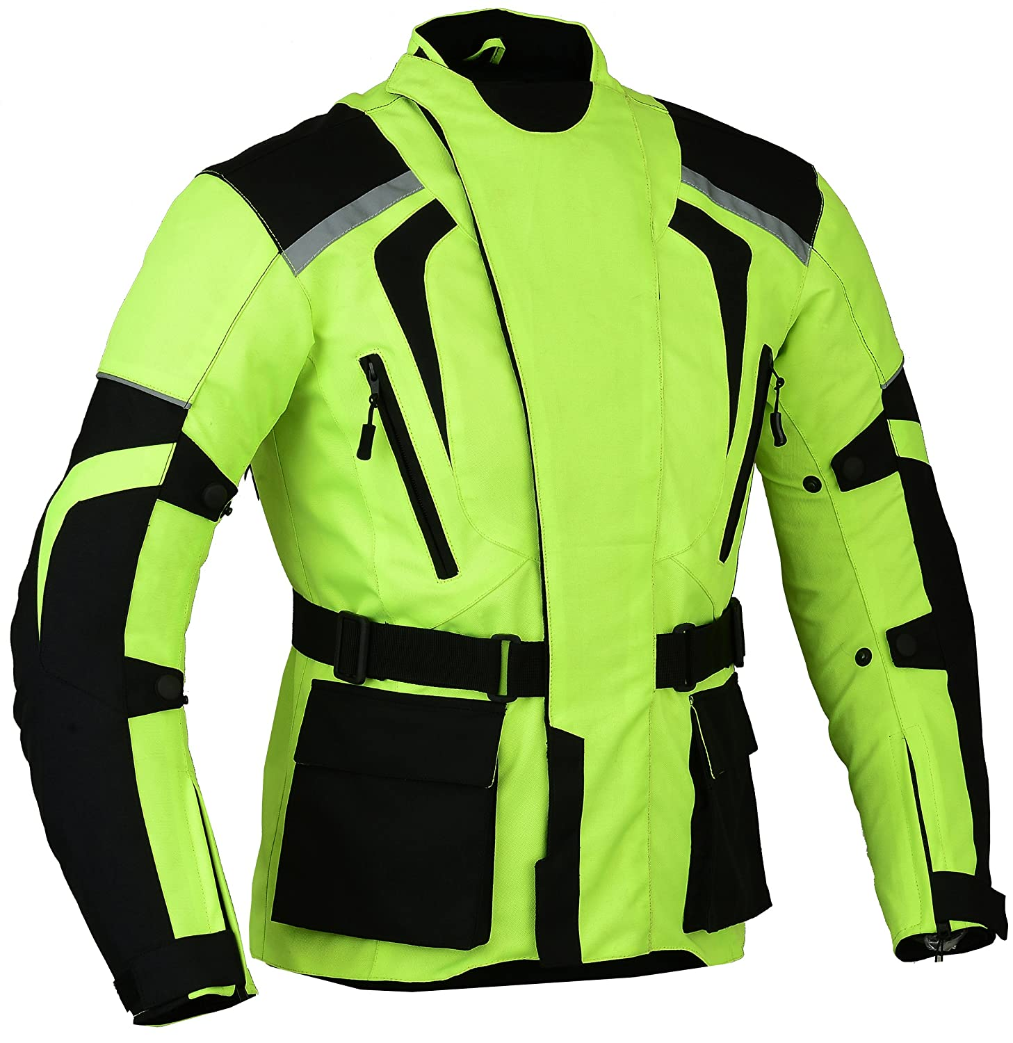 Amazon.com: Green Hivis Motorcycle Protection Jacket Outer ...