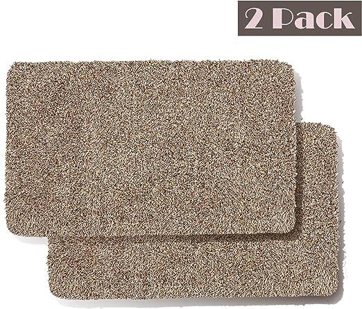 Amazon Com Jinclean Front Door Mat Pack Of 2 Rugs For Entryway