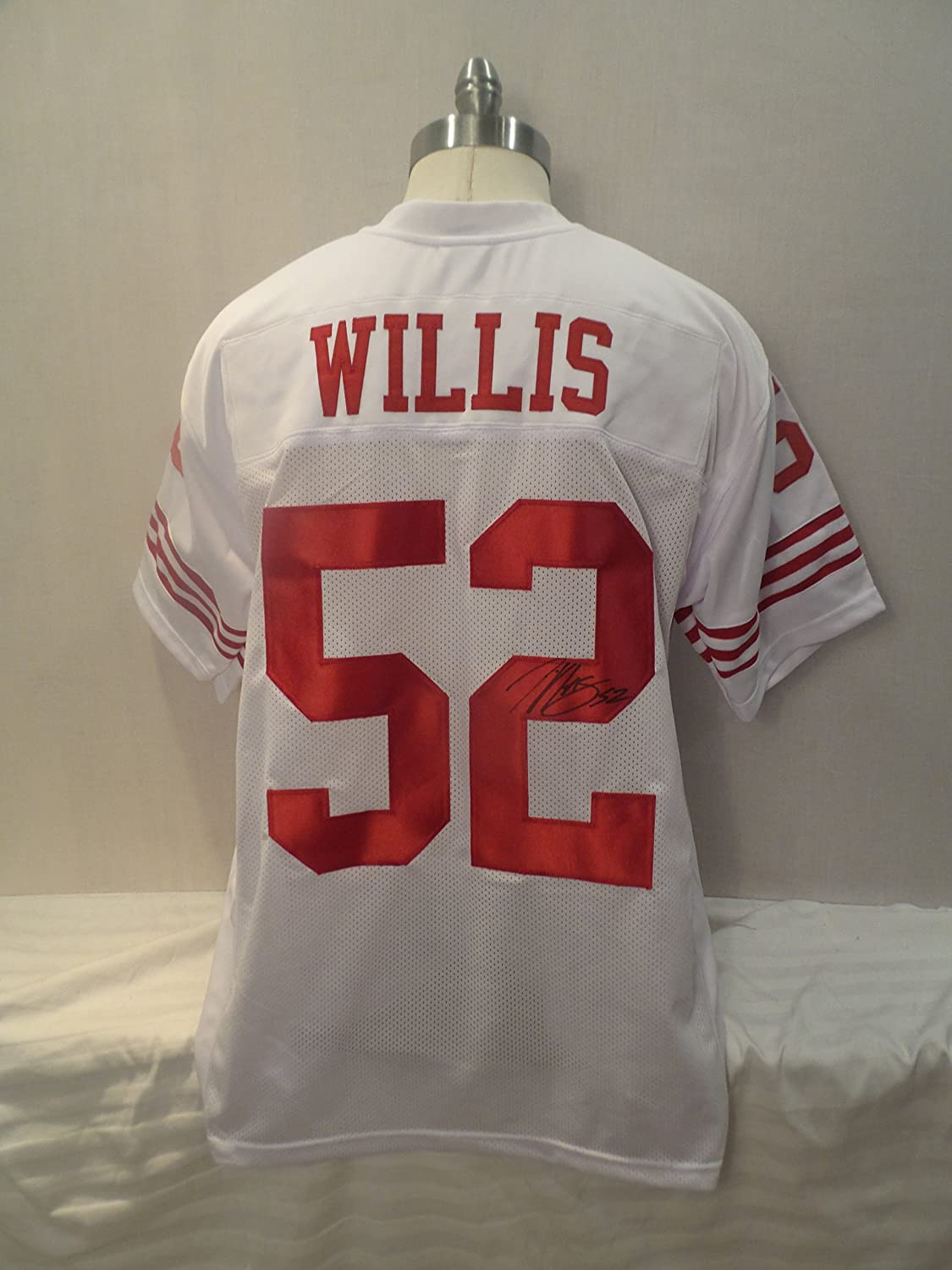 cheap for discount 05040 e2ba2 Patrick Willis Signed San Francisco 49ers White Autographed ...