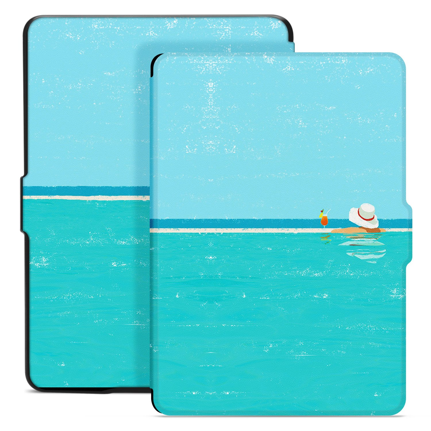 Ayotu Colorful Case for Kindle Paperwhite E-reader Auto Wake/Sleep Smart Protective Cover Case,Fits All 2012, 2013, 2015 and 2016 Versions Kindle Paperwhite 300 PPI, K5-09 The Summertime