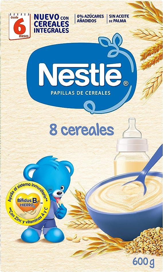 Nestlé Papilla 8 cereales, Alimento Para bebés - 600 gr ...