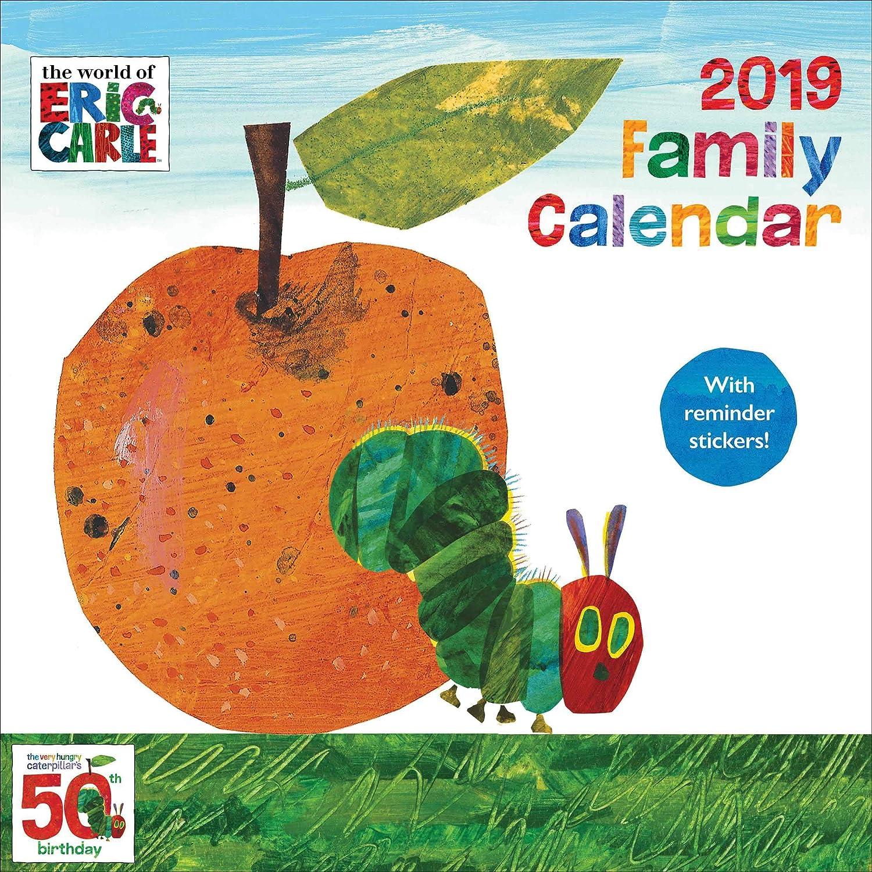 Hungry caterpillar sq calendrier familial avec rappel stickers 2019 amazon fr fournitures de bureau