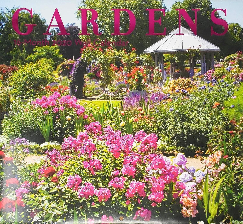 2020 Gardens Full-Size Wall Calendar, 16-Month