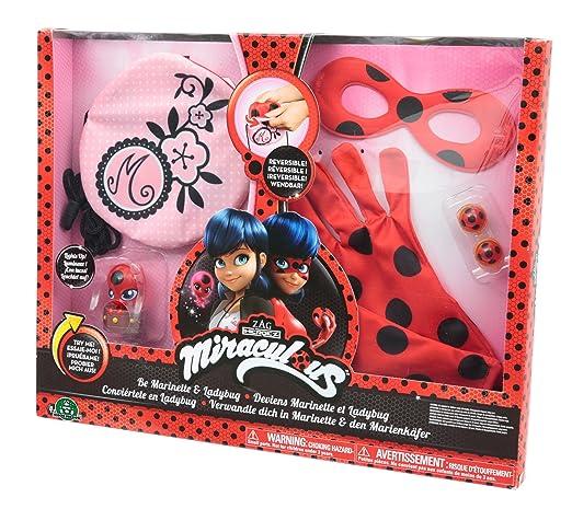 Giochi Preziosi Miraculous Disfraz de Marinette y Ladybug: Amazon.es: Juguetes y juegos