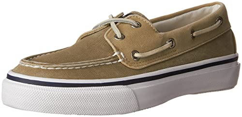 Sperry A/O 2-Eye - Zapatos de cordones, color Brown W/White Sole, talla 7 Uk 2E