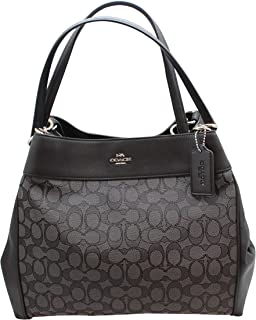 Coach Lexy Shoulder Bag in Outline Signature 2018 Collection Style F27579 c6357bd33fb90