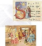 Cartes de Voeux Noël en Famille Lot de 6 Cartes avec Enveloppes