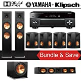 Klipsch RP-280FA 7.1-Ch Reference Premiere Dolby Atmos Home Theater Package with Yamaha AVENTAGE RX-A3070BL 11.2-Channel Network AV Receiver