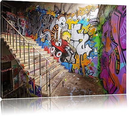 Colorato Street Art Graffiti Tela Stampa D Arte Tele Disegni