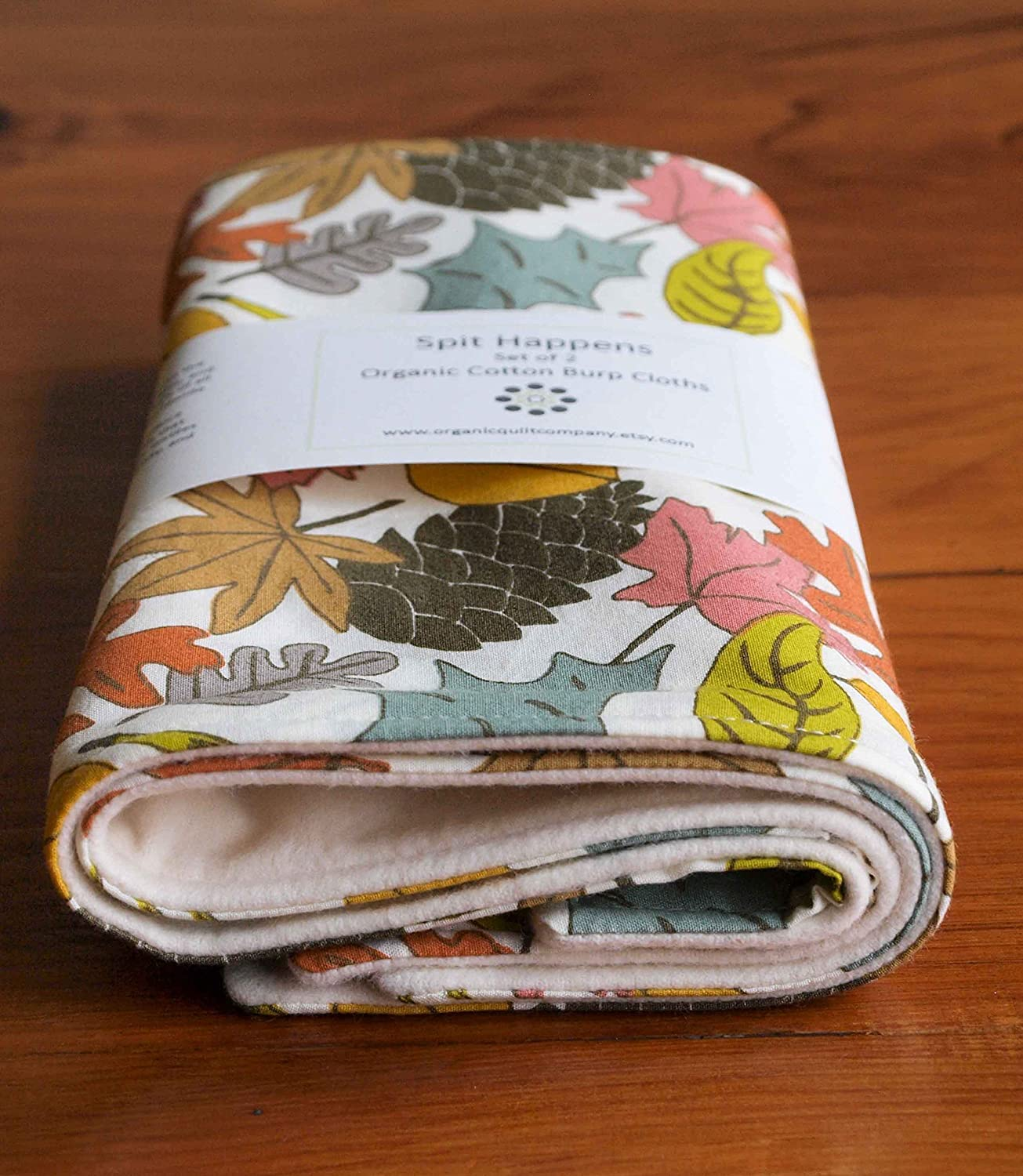 Colorful Leaves, Woodland Baby Burp Cloths