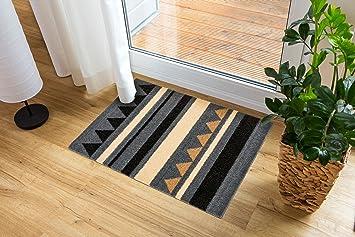 Fußboden Braun Zebra ~ Miabella schmutzfangmatte 1669 714 040 streifen grau braun in 3
