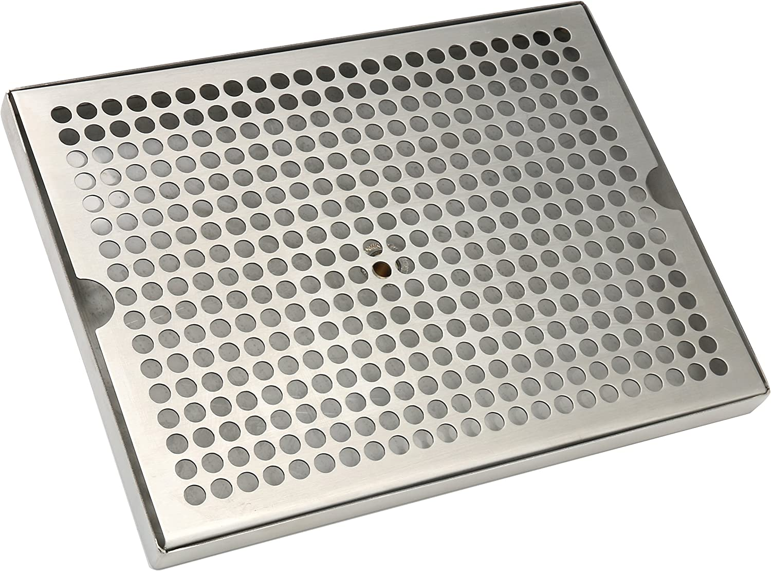 YaeBrew Stainless Steel 12 x 9 Surface Mount Beer Drip Tray with Drain